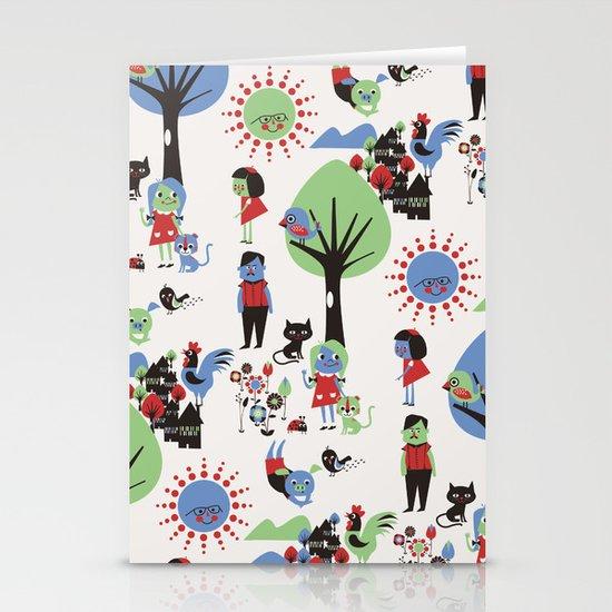 Beautiful day pattern Stationery Cards