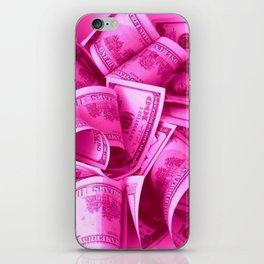 Pink Barbie Benjamins iPhone Skin