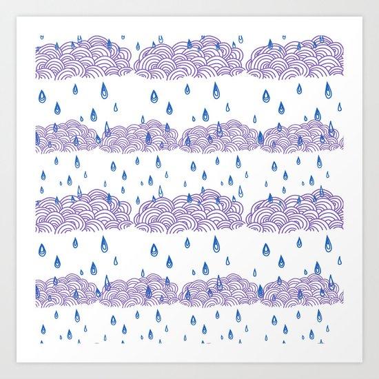 Raindrops keep falling... Art Print