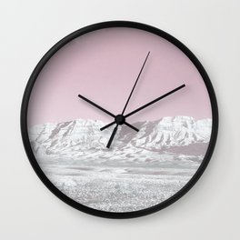 Mojave Snowcaps // Las Vegas Nevada Snowstorm in the Red Rock Canyon Desert Landscape Photograph Wall Clock