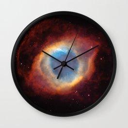 Galaxy Helix Nebula Planetary Fog Universe Wall Clock