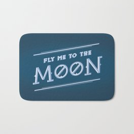 Fly me to the moon. Bath Mat
