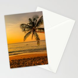 Beautiful Sunset over the Beach Stationery Cards