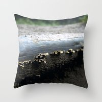 mushrooms Throw Pillows featuring mushrooms by nast