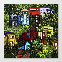 Corona Heights (colored) Canvas Print