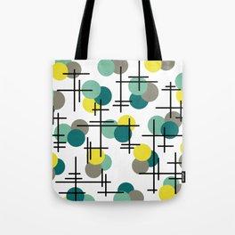 Atomic Age Molecules Tote Bag