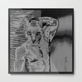 catman 1 Metal Print