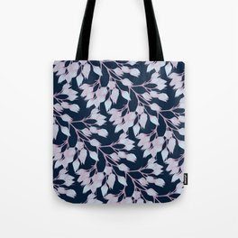 Winter Flower Buds Tote Bag
