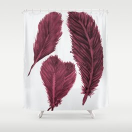 Feather Collection - bordeux Shower Curtain