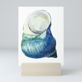 Blue Shell Mini Art Print