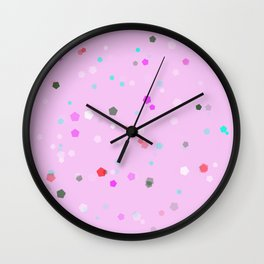 Design 6 Pink Wall Clock