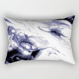 Indigo, black & white abstract I Rectangular Pillow