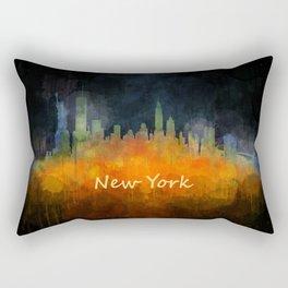 New York City Skyline Hq V04 Rectangular Pillow
