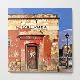 Corner of Oaxaca Metal Print
