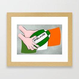 Rugby Ireland Flag Framed Art Print