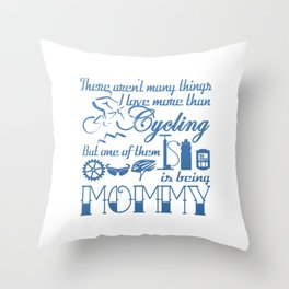 Cycling Mommy Throw Pillow