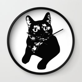 Graphic Cat | Black & White Wall Clock