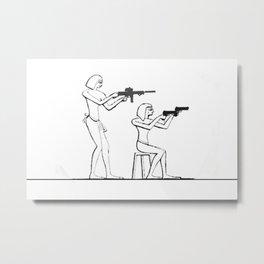 ∆ Security Metal Print