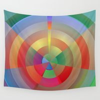 barcelona Wall Tapestries featuring Barcelona Bullseye by Alexander Studio
