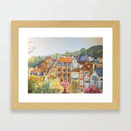 Brussels: neighborhood in Forest area. Framed Art Print