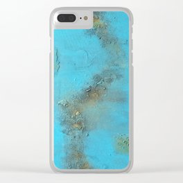 Earth. Texture. Blue. Jodilynpaintings. Brown. Abstract. Earths Crust. Clear iPhone Case