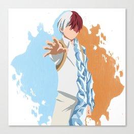 My Hero Academia Minimalist (Todoroki) Canvas Print