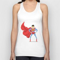 superman Tank Tops featuring Superman by Bastonmag