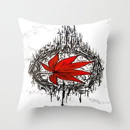Tribe Maple Throw Pillow