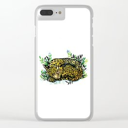 Snow panther of china Clear iPhone Case