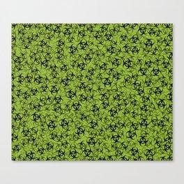 Biohazard (black on green) Canvas Print