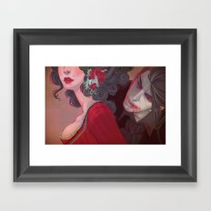 Cherry Lips (Dracula) Framed Art Print