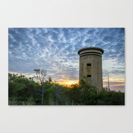WWII Lookout Tower Canvas Print