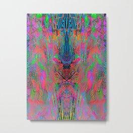Fluoro Dragon Lines Metal Print