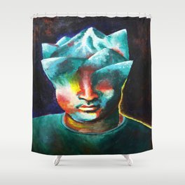 Mountains On My Mind Shower Curtain