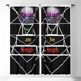 """Tri Strength Love Heal : Beez Lee Art"" Blackout Curtain"