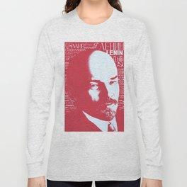 Russia, URSS Vintage Poster, Lenin Long Sleeve T-shirt