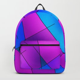 ABSTRACT LINES #1 (Purples, Violets, Fuchsias & Turquoises) Backpack