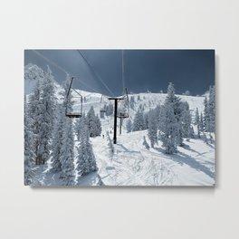 Mammoth Mountain: Chair 12 Metal Print