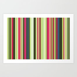 Old Country Stripes - Lime Cordial - Extra Wide Art Print