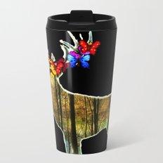 Flower deer Metal Travel Mug