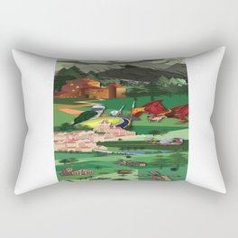 A Medieval Landscape Rectangular Pillow