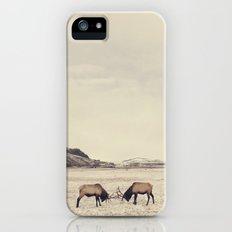 Sparring Elk in Wyoming - Wildlife Photography Slim Case iPhone SE