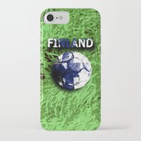 finland iPhone & iPod Cases featuring Old football (Finland) by seb mcnulty