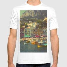 Capri, Italy Mens Fitted Tee White MEDIUM