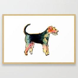 Hunter - Dog Watercolour Framed Art Print