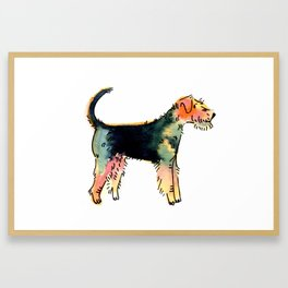 Hunter - Dog Watercolour Framed Art Print