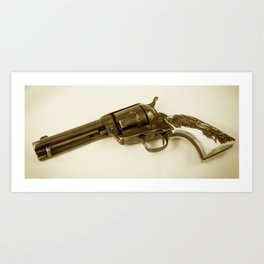 Guns Of The Old West - Colt .45, #4, Sepia Art Print