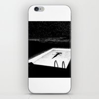 apollonia iPhone & iPod Skins featuring asc 593 - Le silence des cigales (The midnight lights) by From Apollonia with Love