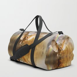 Owl Rainbow and Sunset Duffle Bag