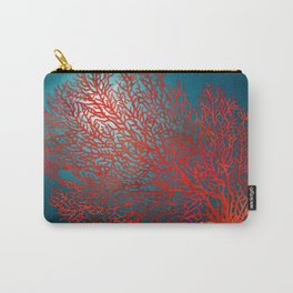 Red Fan Coral Underwater Landscape Carry-All Pouch